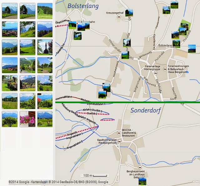 Ortsplan Bolsterlang Spaziergänge Allgäu