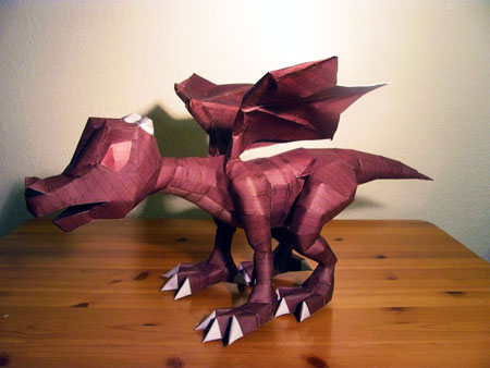 Runescape Baby Red Dragon Papercraft
