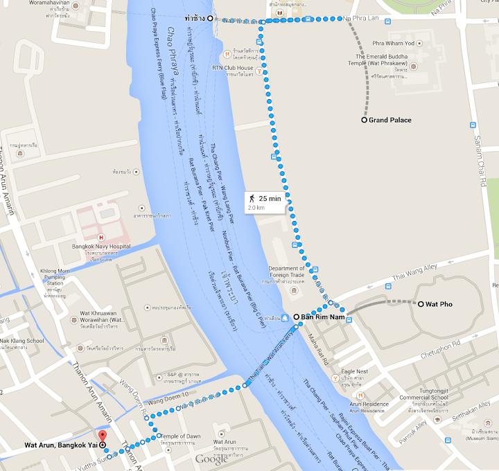 Bangkok temple visitor map