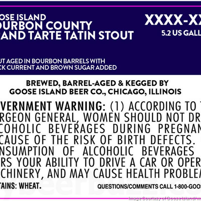 Goose Island Adding Bourbon County Brand Tarte Tatin Stout