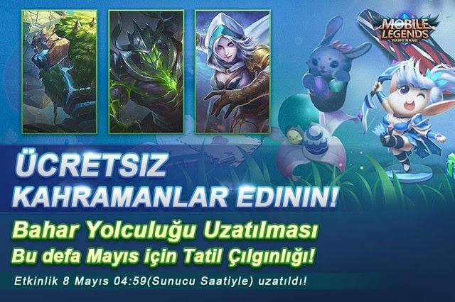Bahar Yolculuğu Etkinliği - Ücretsiz Kahraman Kazan - Mobile Legends