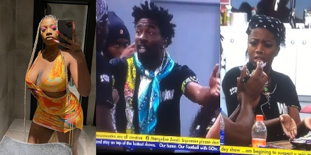"""#BBNaija: """"you dey Craze, i go Beat you"""" - Boma set to Beat Angel during heated argument (Video)"""