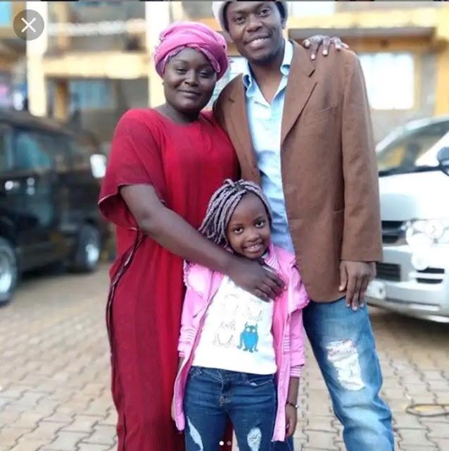 Real Househelps of Kawangware tv show actor Michireti real name David Marucha and Shiphira real name Wambui wa Wanjiku wedding photos