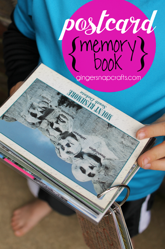 postcard memory book at GingerSnapCrafts.com #postcards #family #vacations