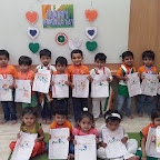 Republic Day Celebrated by Playgroup Morning Section at Witty World, Chikoowadi (2017-2018)