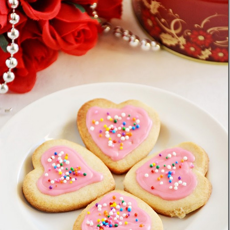 Eggless sugar cookies–Valentines day special