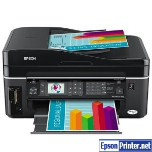 Reset Epson WorkForce 600 printing device by program