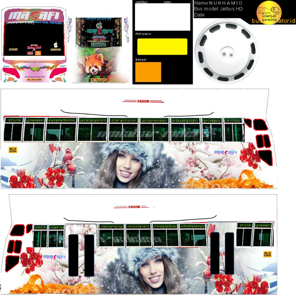 Bussid kerala: Masafi livery