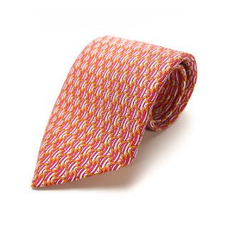 Hermès Silk Fish Tie