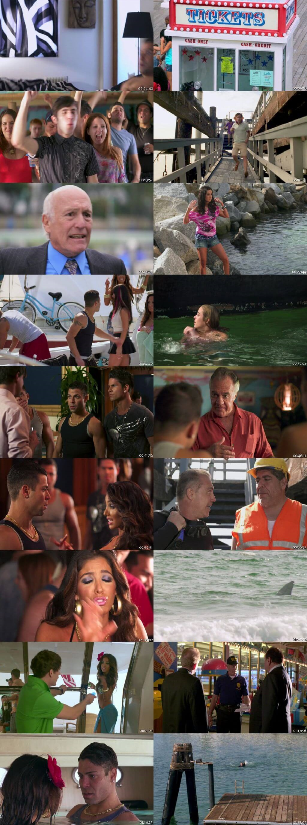 Screen Shot Of Jersey Shore Shark Attack 2012 300MB Full Movie Hindi Dubbed Free Download 480P BRRip Small Size PC Movie