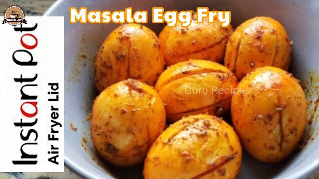 Instant Pot Air Fryer Lid Spicy Masala Egg Fry