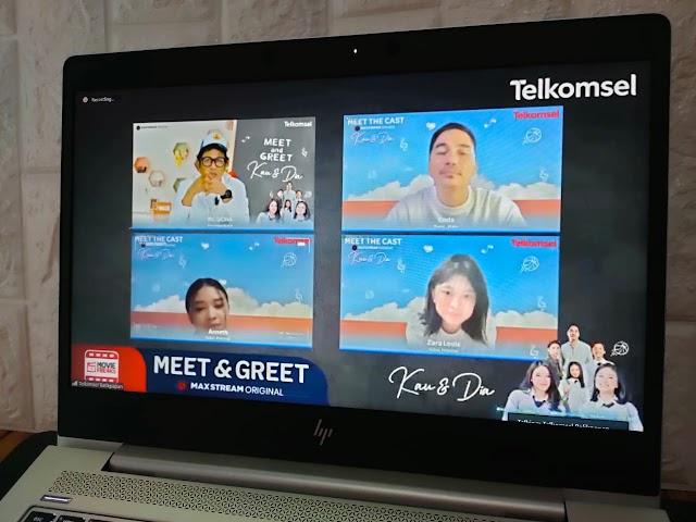 Rilis 'Kau dan Dia Movie' Via Platform MAXstream, Telkomsel Gelar Meet and Greet Bersama Pelanggan Pamasuka