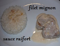 Filet mignon a la sauce raifort