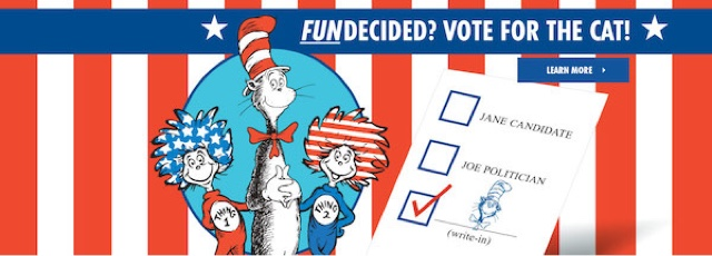 Dr. Seuss Vote Election Cat in the Hat President Fundecided