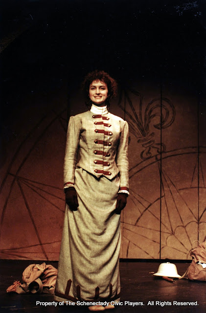 Eileen McCashion  in ON THE VERGE - January/February 2000.  Property of The Schenectady Civic Players Theater Archive.