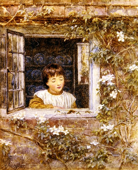 Helen Allingham - The Caterpillar