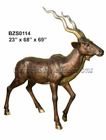 Antelope, Bronze, Statue