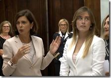 Laura Boldrini e Maria Elena Boschi