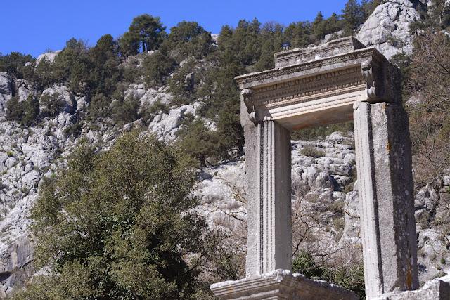 Le site archéologique de Termessos et ses riches vestiges, de 900 à 1200 m d'altitude. À l'ouest d'Antalya (Turquie), 20 mars 2014. Photo : L. Voisin