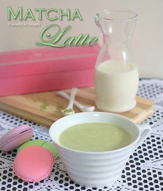 Matcha Green Tea Latte | www.thepeachkitchen.com
