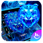 Neon Tiger King Keyboard Theme Icon