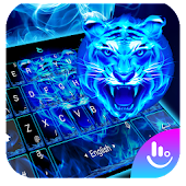 Neon Tiger King Keyboard Theme