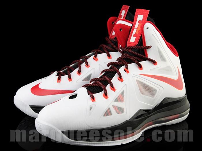 sale retailer 4a519 0da0b First Look  Nike LeBron X Miami Heat Home   NIKE LEBRON - LeBron James Shoes