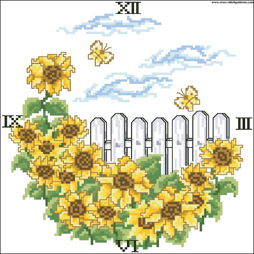 Sunflower clock chart