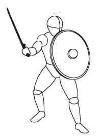 Однако к щиту и мечу никогда до этого не обращались как к комбинации оружия боевых искусств.