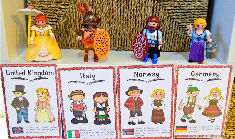Europe Continent Costume Cards