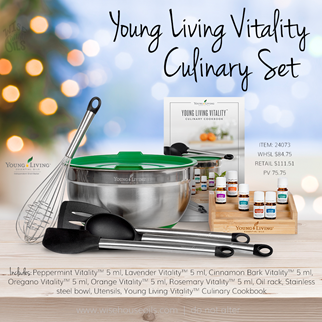 Young Living Gift Ideas Holiday Catalog 2018 Vitality Culinary Set A