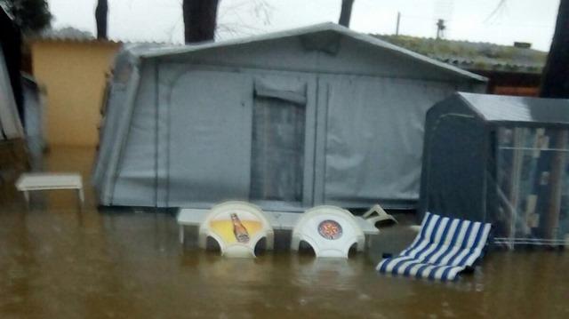 Inundaciones en el cámping de Gandarío, Bergondo