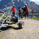 mountain cart fun on the First in Grindelwald, Bern, Switzerland