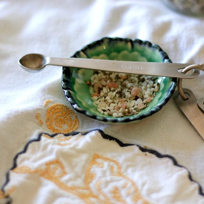 Italian Herb Salt from Garden to table