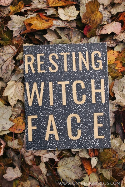'Resting Witch Face' free printable & canvas art!