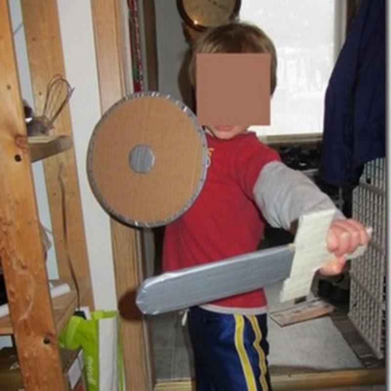 Como hacer disfraz de vikingo en cartón