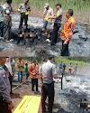 Warga Desa Ogan Jaya sungkai Utara lampung utara di Temukan Hangus terbakar