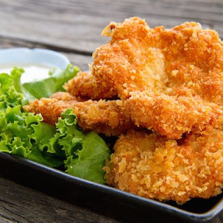 Crispy Chicken Cutlets.