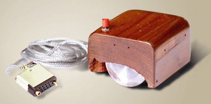 The first computer mouse wasn't made from plastic.