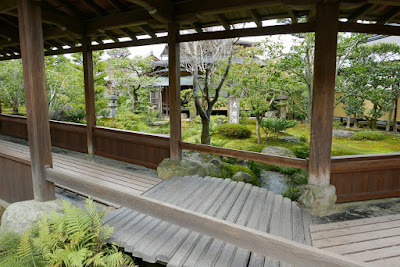 The Kairo (covered colonnade) at Tenryuji Temple, Kyoto