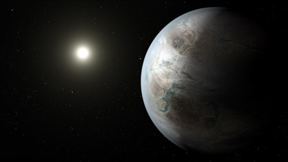 ilustração do exoplaneta Kepler-452b