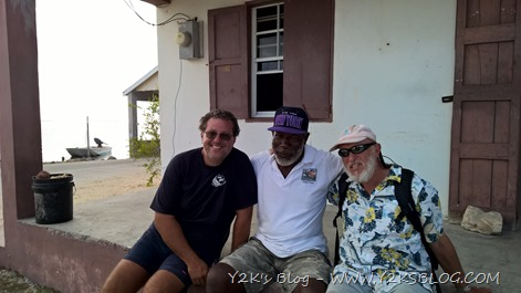 Max, George Jeffrey e Bill - Barbuda
