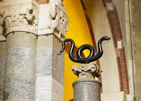 The Bronze Snake of Moses in the Basilica of Sant'Ambrogio, Milan
