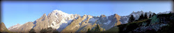 Panorama Mont Blanc versant Italien