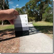 checking tones with notan card