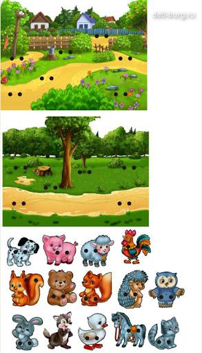 Игрушка шнуровка Домашние и дикие животные