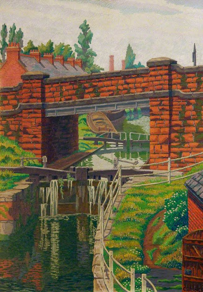 Charles Ginner - The Lock Gates, Chester