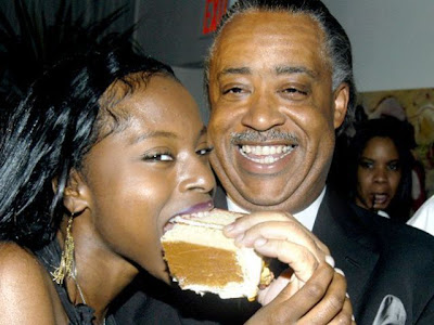 al sharpton and foxy brown eating