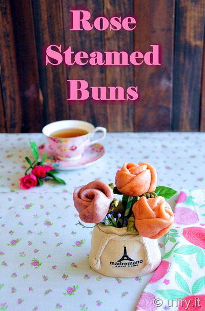 How to Make Rose Steamed Buns -  Valentine's Day Recipe Idea http://uTry.it