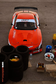 Shawn Spiteri's Orange rotary Mazda RX7